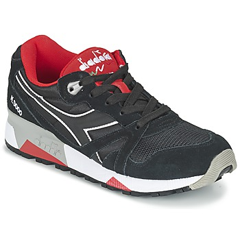 Shoes Low top trainers Diadora N9000 NYLON II Black / Red