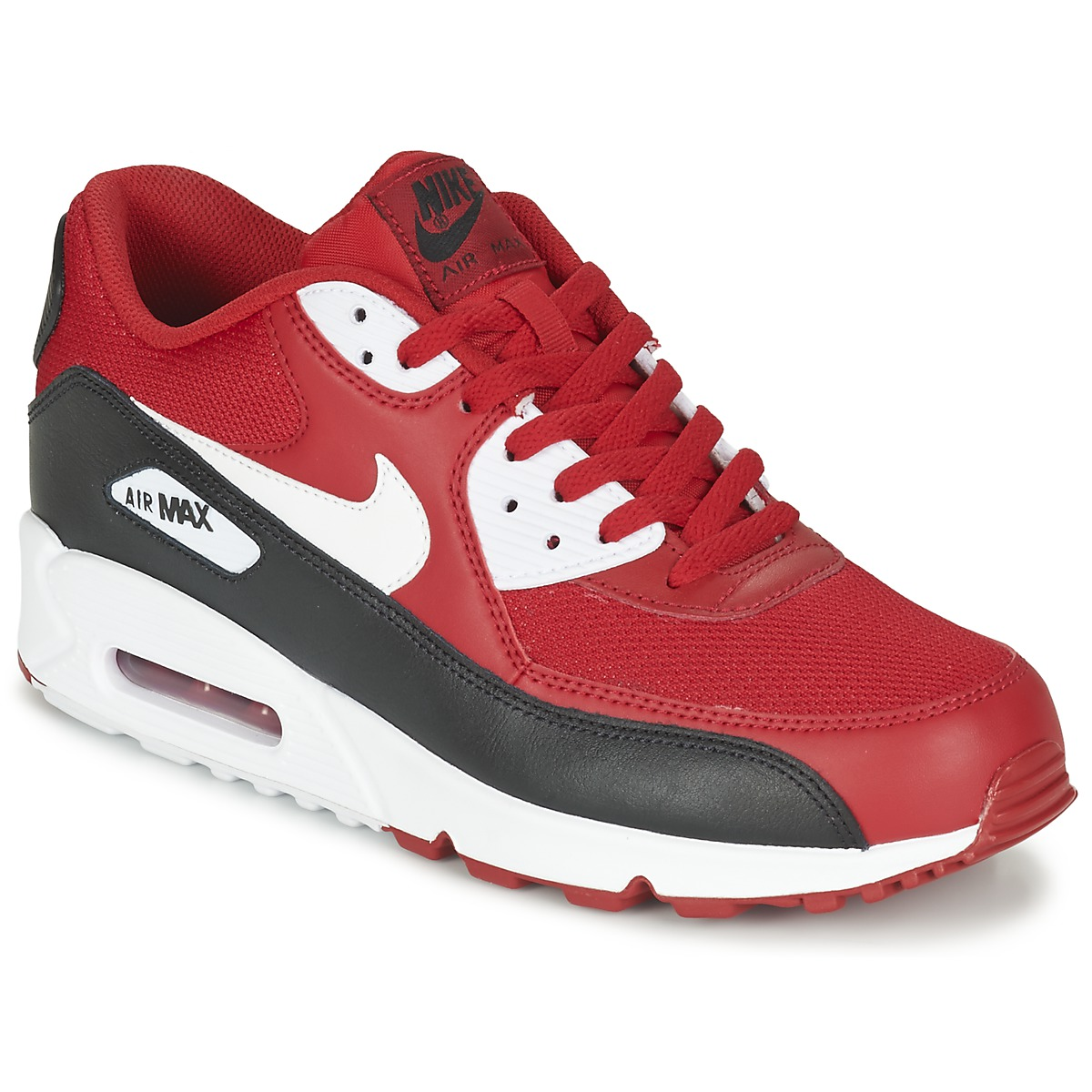 nike air max 90 essential black red