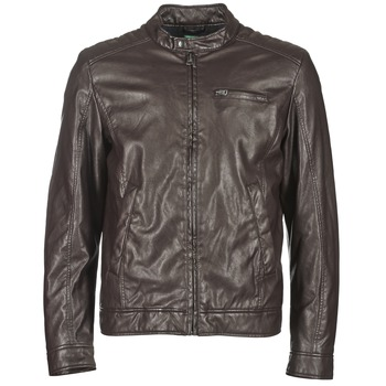material Men Leather jackets / Imitation le Benetton HOULO Brown