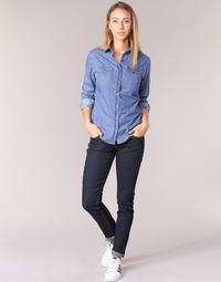 material Women slim jeans Yurban ESQUINE Blue / Raw