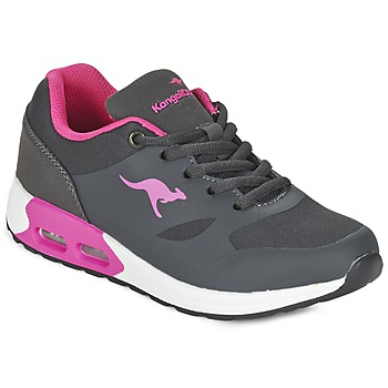 Shoes Girl Low top trainers Kangaroos KANGA X Grey / Pink