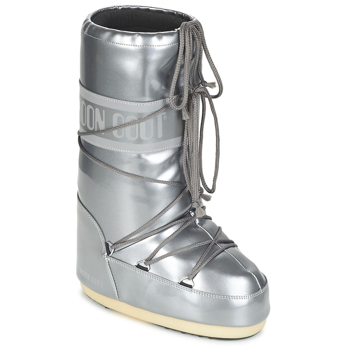 Moon Boot Moon Boot Vynil Met Silver Free Delivery With