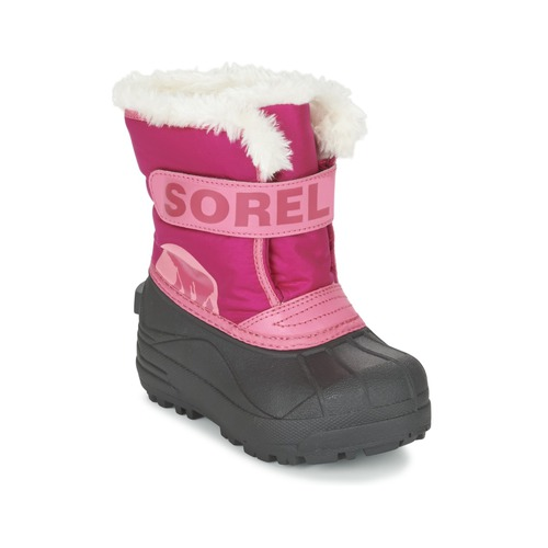 Sorel CHILDRENS SNOW COMMANDER Pink - Free delivery with Spartoo NET ... dd4a1fbe7c