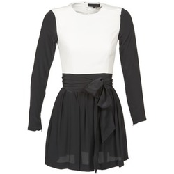 material Women Short Dresses American Retro STANLEY Black / White