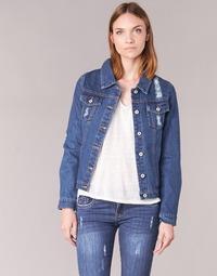 material Women Denim jackets Yurban ESPINALE Blue / Dark