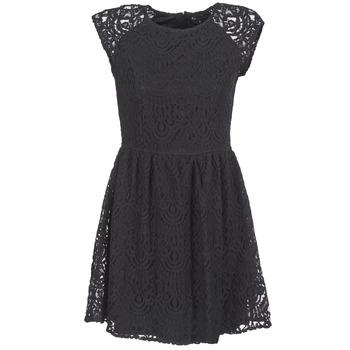 material Women Short Dresses Best Mountain VISCAL Black