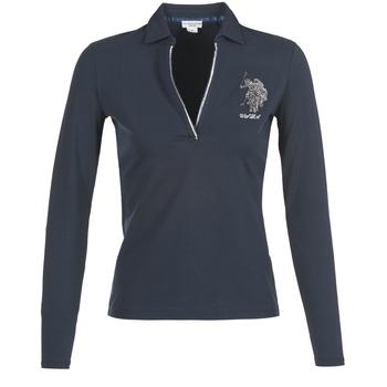 material Women long-sleeved polo shirts U.S Polo Assn. CRISTINE Marine