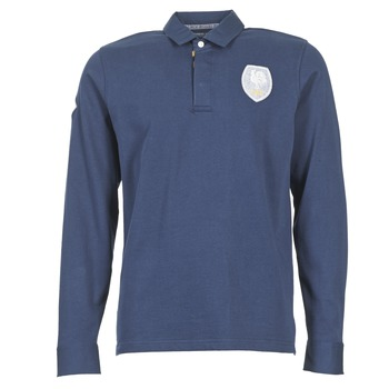 material Men long-sleeved polo shirts Serge Blanco ECUSSON COQ Marine