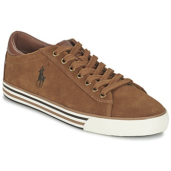 Shoes Men Low top trainers Ralph Lauren HARVEY COGNAC