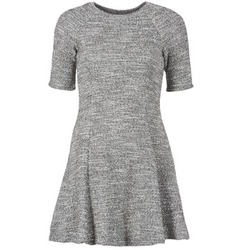 material Women Short Dresses Loreak Mendian ZENIT Grey / Mottled