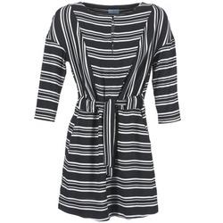 material Women Short Dresses Loreak Mendian PILI Black / White