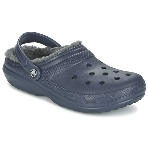 Shoes Clogs Crocs CLASSIC LINED CLOG Marine / Grey