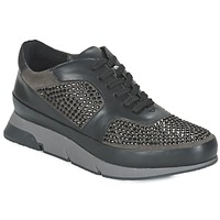 Shoes Women Low top trainers Luciano Barachini OXFORD Black / Grey