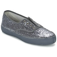Shoes Women Low top trainers Chipie JOSS GLITTER Anthracite