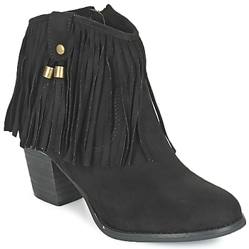 Shoes Women Ankle boots Refresh MICROU Black