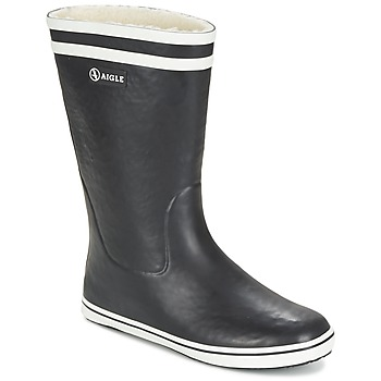 Shoes Women Wellington boots Aigle MALOUINE FUR Black