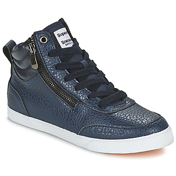 Shoes Women High top trainers Superdry NANO ZIP HI TOP SNEAKER Blue