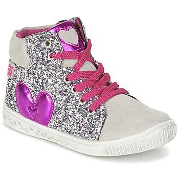 Shoes Girl High top trainers Agatha Ruiz de la Prada BUSOULI Silver