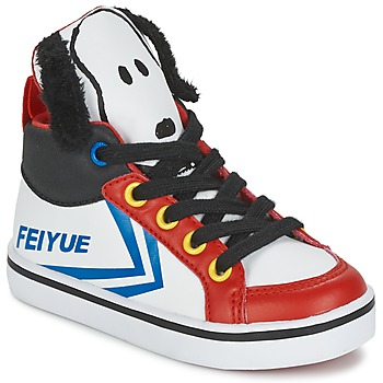 Shoes Children High top trainers Feiyue DELTA MID PEANUTS White / Black / Red