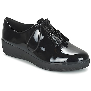 Shoes Women Derby shoes FitFlop CLASSIC TASSEL SUPEROXFORD Black