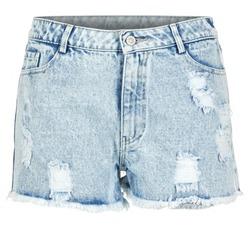 material Women Shorts / Bermudas Yurban EVANUXE Blue / Clear