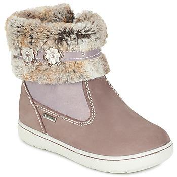 Shoes Girl Mid boots Primigi MARINA-E BEIGE / Pink