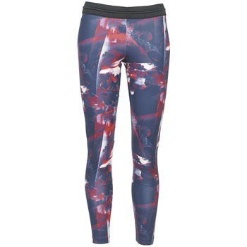 material Women leggings adidas Originals FLOWER TIGHT Blue / Pink