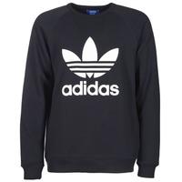 material Men sweatpants adidas Originals TREFOIL CREW Black