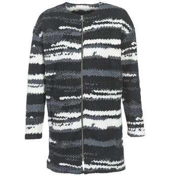 material Women coats Bench EVENING Black / White / Grey