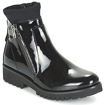 Shoes Women Mid boots Regard REJABI Black / PATENT