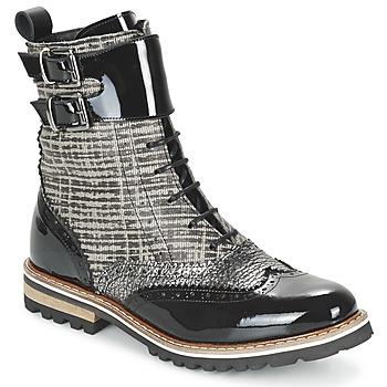 Shoes Women Mid boots Regard RIFADO Grey / Black / PATENT