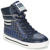 Shoes Women High top trainers Marc by Marc Jacobs CUTE KIDS MINI TOTO PLAID Blue / Multicoloured