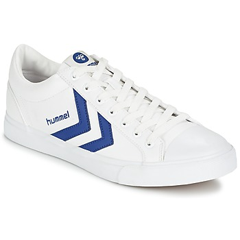Shoes Low top trainers Hummel BASELINE COURT White / Blue