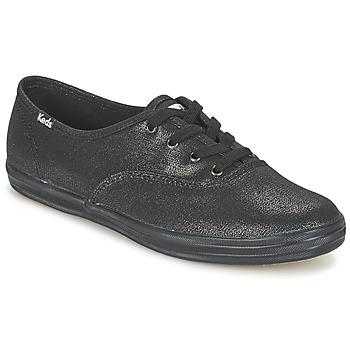 Shoes Women Low top trainers Keds CH METALLIC CANVAS Black
