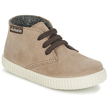 Shoes Children High top trainers Victoria SAFARI SERRAJE KID TAUPE