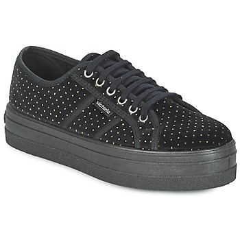 Shoes Women Low top trainers Victoria BASKET TERCIOPELO Black