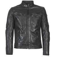material Men Leather jackets / Imitation le Redskins LYNCH Black