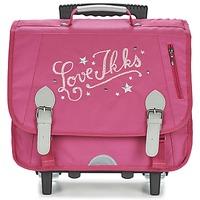 Bags Girl Rucksacks / Trolley bags Ikks LOVE IKKS TROLLEY CARTABLE 38CM Pink