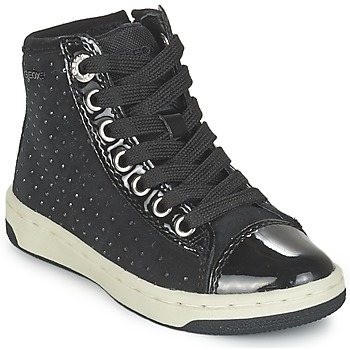 Shoes Girl High top trainers Geox CREAMY Black