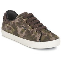 Shoes Girl Low top trainers Geox KIWI GIRL Green
