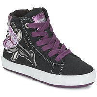 Shoes Girl High top trainers Geox WITTY Black