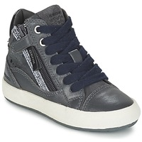 Shoes Girl High top trainers Geox WITTY Grey