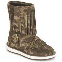 Shoes Girl Mid boots Geox NOHA Green