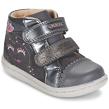 Shoes Girl High top trainers Geox B FLICK GIRL Grey