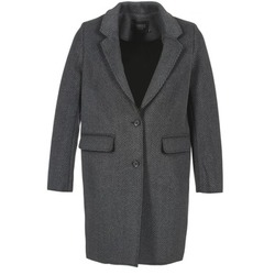 material Women coats Eleven Paris TABLEAUBIS Grey / Black