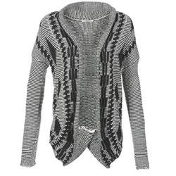 material Women Jackets / Cardigans Teddy Smith GRANBY ECRU / Black