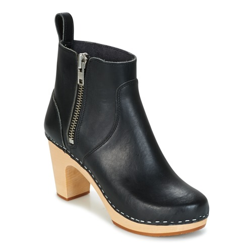 Shoes Women Ankle boots Swedish hasbeens ZIP IT SUPER HIGH Black