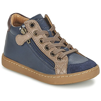 Shoes Children High top trainers Shoo Pom PLAY HIBI ZIP Marine / Taupe