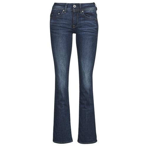 material Women bootcut jeans G-Star Raw MIDGE SADDLE MID BOOTLEG Neutro / Stretch / Denim / Dk / Aged
