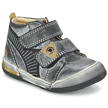 Shoes Boy Mid boots GBB NATHAN Grey / Yellow